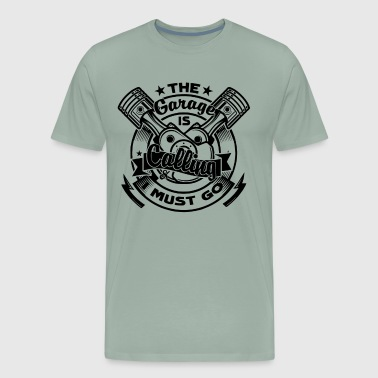 Car Mechanic Garage Calling Shirt - Men's Premium T-Shirt