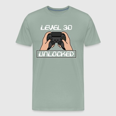 Level 30 Completed 30th Birthday Present Gift - Men's Premium T-Shirt