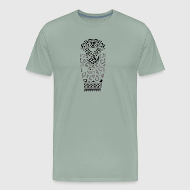 Polynesian Design maori face - Men's Premium T-Shirt