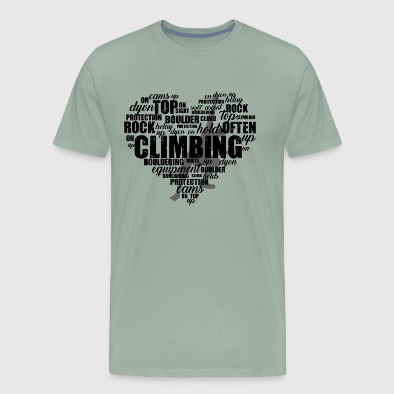 Rock Climbing Love Shirt - Men's Premium T-Shirt