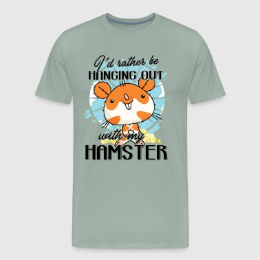 Hanging Out With My Hamster Shirt - Men's Premium T-Shirt