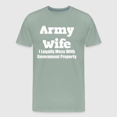 Army wife - Men's Premium T-Shirt