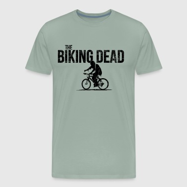 the biking dead Zombie cyclist cool bike present - Men's Premium T-Shirt