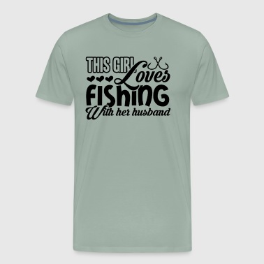 Loves Fishing With Husband Shirt - Men's Premium T-Shirt