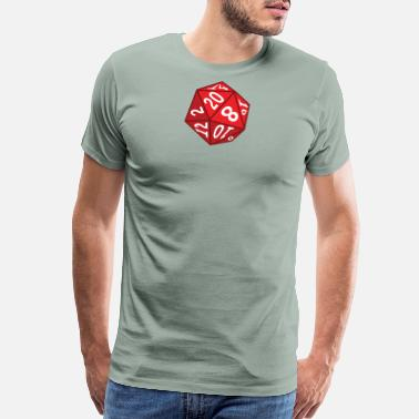 20 Sided Dice 20 Sided Dice - Men's Premium T-Shirt