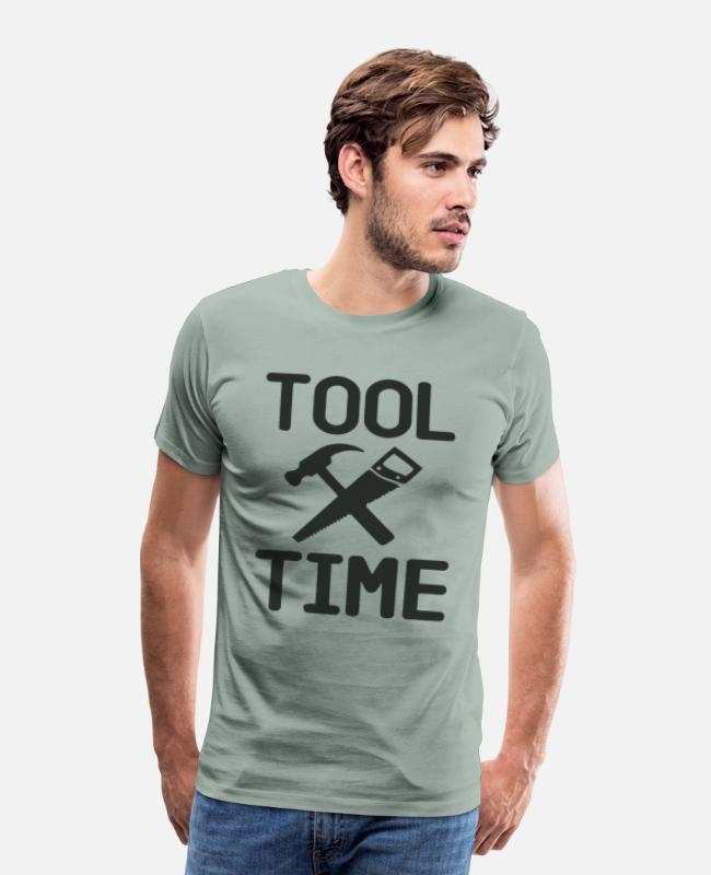 Nostalgic T-Shirts - Tool Time - Binford - Men's Premium T-Shirt steel green