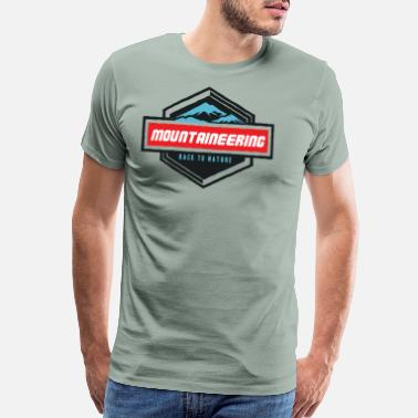 Caravan Camping Mountaineering - Men's Premium T-Shirt