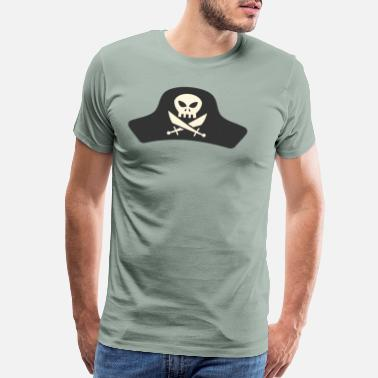 Robbery Pirate Hat - Men's Premium T-Shirt