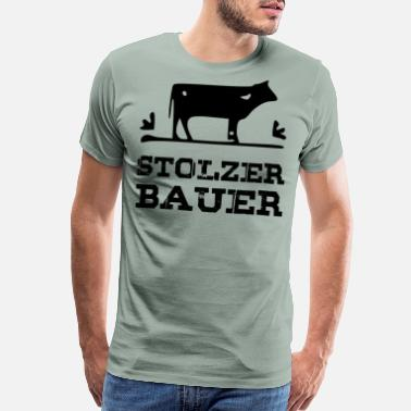 Farmer Cow Proud farmer black - Men's Premium T-Shirt