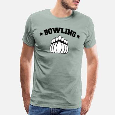 Strikeforce Bowling motif black - Men's Premium T-Shirt