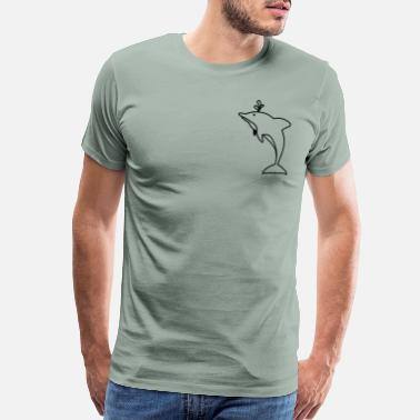 Spilled Pocket Dolphin Awesome Gift Idea for Dolphin Lover - Men's Premium T-Shirt