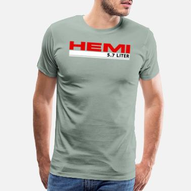 Dodge Hemi 5.7 Liter Logo - Men's Premium T-Shirt