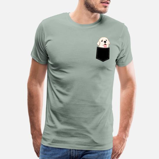 ed8c88073 cute little dog in the breast pocket (4) Men's Premium T-Shirt ...