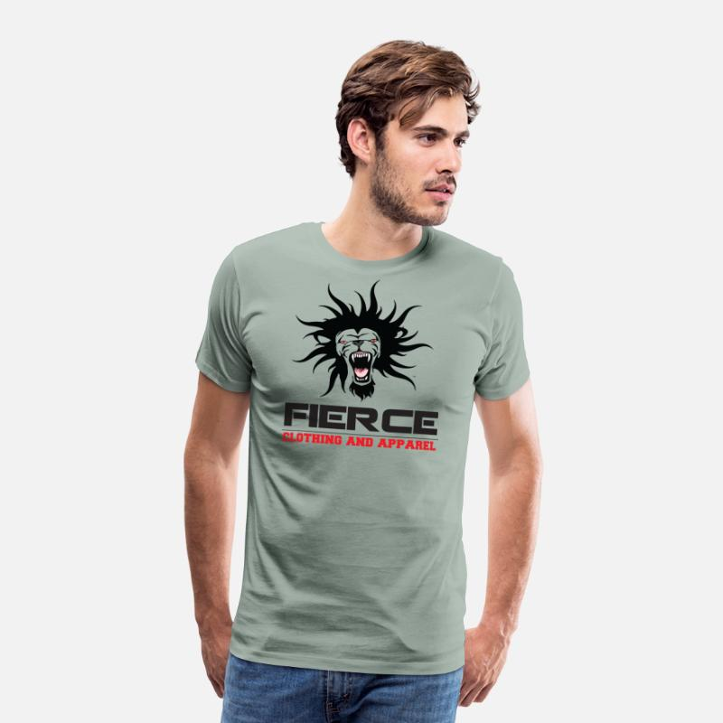 Fierce T-Shirts - FIERCE Clothing Line - Men's Premium T-Shirt steel green