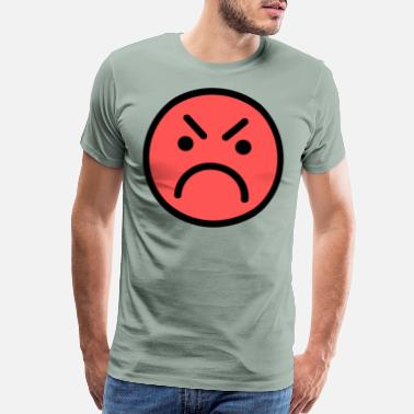 Red Face Smiley Face Red Angry Face - Men's Premium T-Shirt