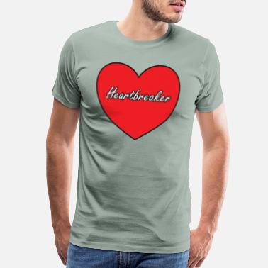 Breast Logo Heartbreaker Gift Idea Casanova - Men's Premium T-Shirt