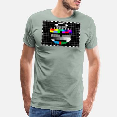Television RGB & BW TV Test Card/Screen Pattern - Men's Premium T-Shirt