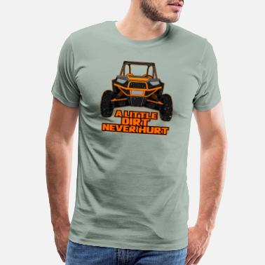 St Patricks Day UTV ATV Quad Bike Four Wheeler racing mud sxs gift - Men's Premium T-Shirt