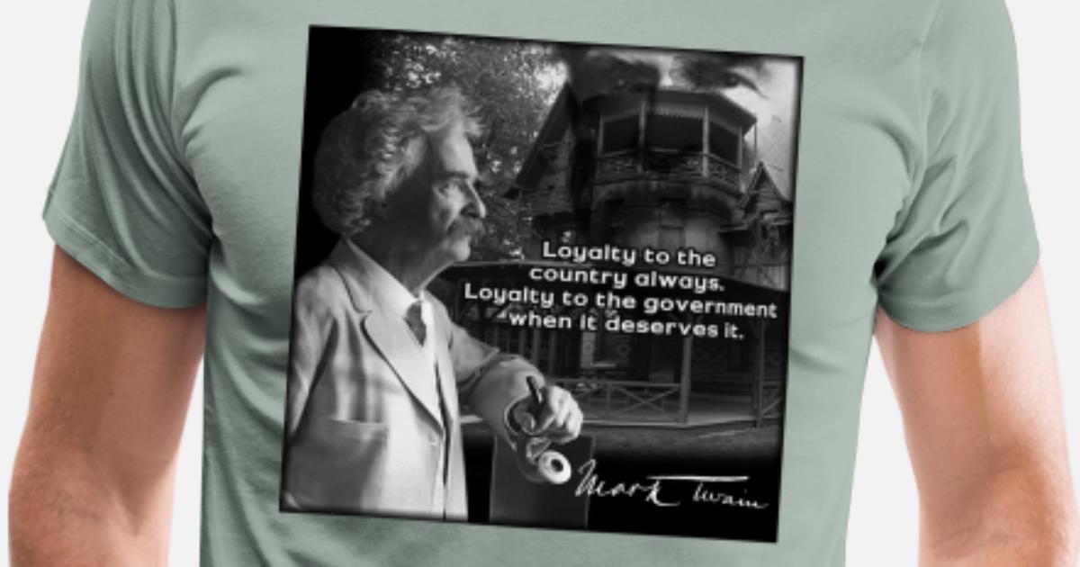 Men/'s Ladies T SHIRT cool Mark Twain quote patriotism Government