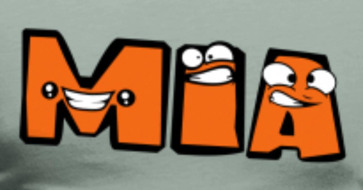 First Name Mia Girl Female Letter Name Write Carto Men S Premium T
