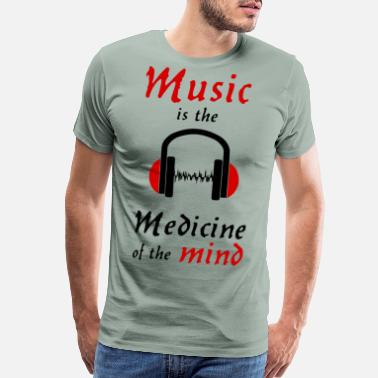 Medicine Symbol music is the medicine of the mind darkred earphone - Men's Premium T-Shirt