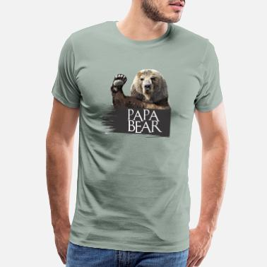 Papa papa bear - Men's Premium T-Shirt