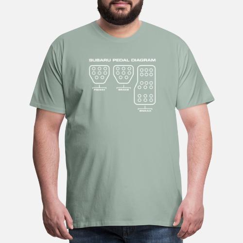 Subaru Pedal Diagram Men S Premium T Shirt Spreadshirt