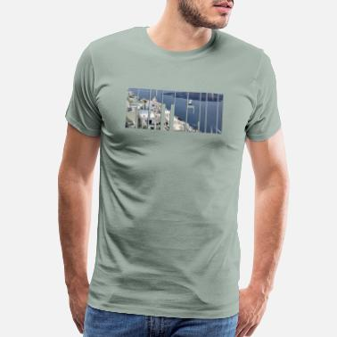 Greece Santorini seaside in Greece photo for custom shirt - Men's Premium T-Shirt