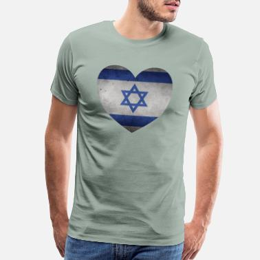Chanukkah Israel stone Heart - Men's Premium T-Shirt