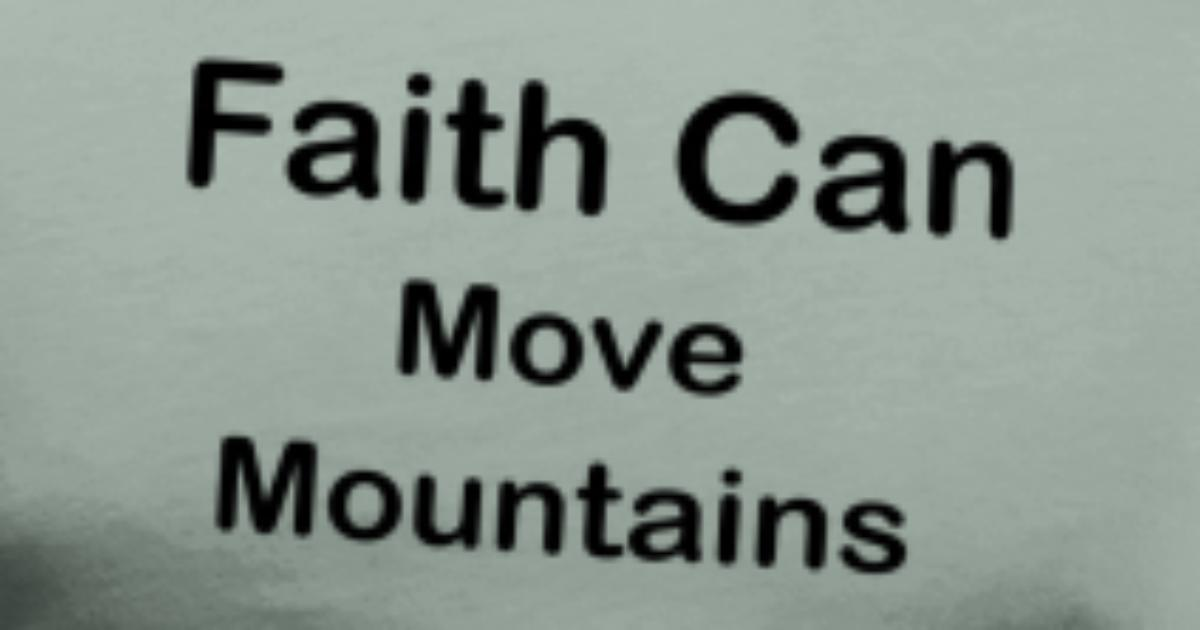 Faith Can Move Mountains Quotes Mens Premium T Shirt Spreadshirt