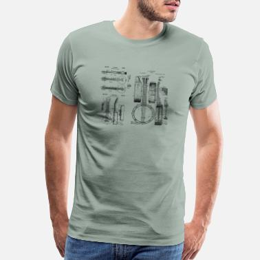 Bluegrass Music Instruments Banjo, Mandolin, Ukulele Patents - Men's Premium T-Shirt
