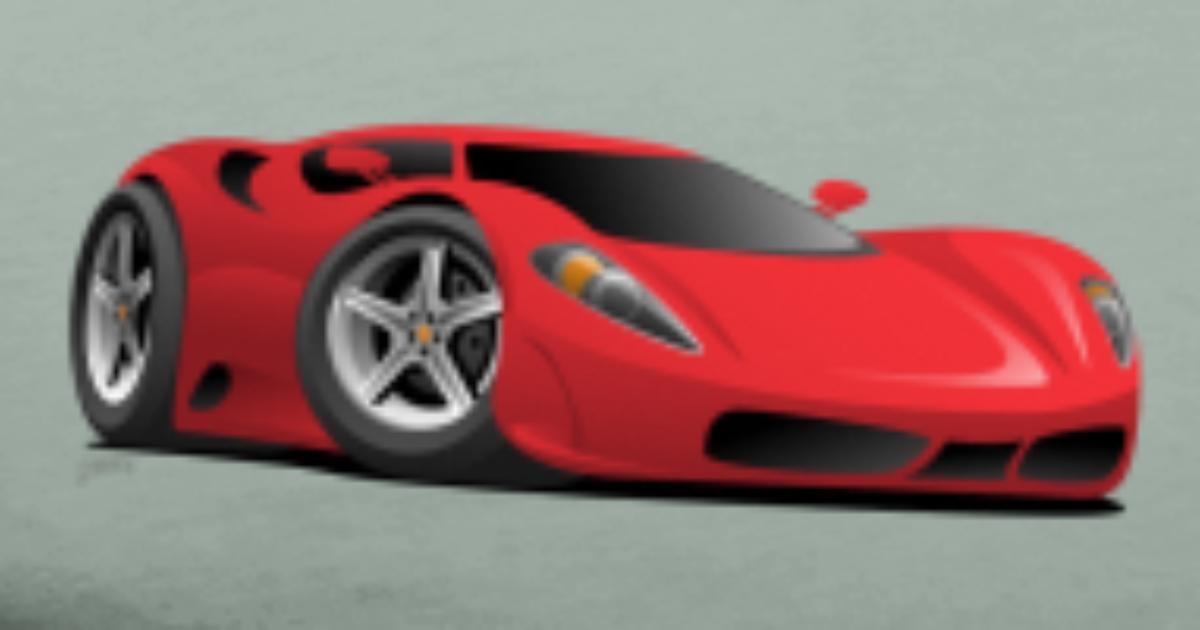 Red Hot European Style Sports Car Cartoon By Hobrath Spreadshirt