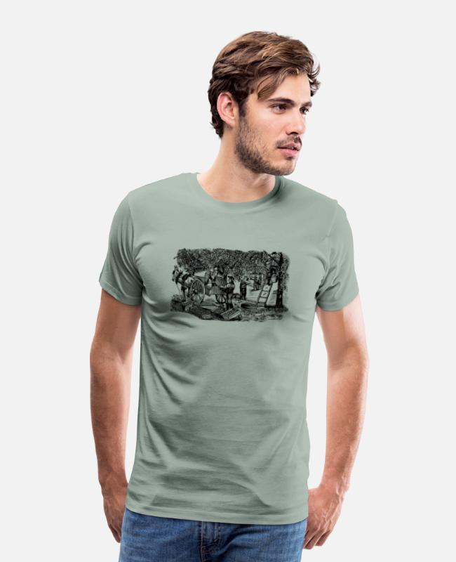 Rural T-Shirts - Orange Farmers - Men's Premium T-Shirt steel green