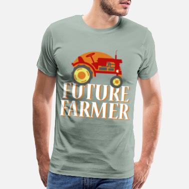 Plow Tractor Farmer Gift Shirt Cool Trecker Farmer - Men's Premium T-Shirt