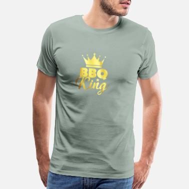 Charcoal BBQ king - gift - Men's Premium T-Shirt
