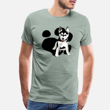 Sweet Dog Love Husky - Men's Premium T-Shirt
