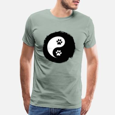 Cat Yin Yang Yin Paw Symbol Yang Pets Dog Cat Fun Gift Idea - Men's Premium T-Shirt