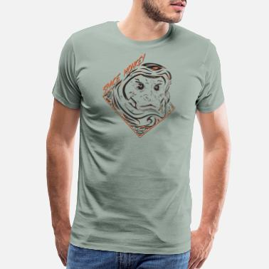 Orange Monkey Space Monkey (Orange) - Men's Premium T-Shirt