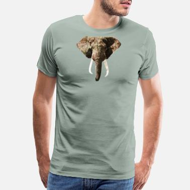 National Geographic Elephant Geographic Head Illustration - Men's Premium T-Shirt