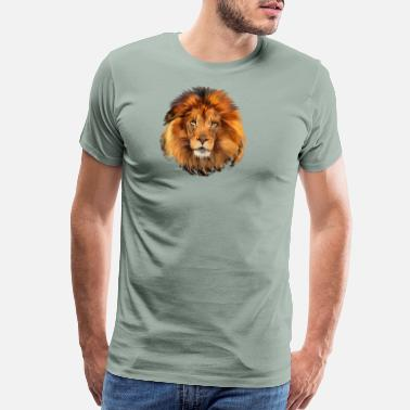 Lion Face lion face art design shirt - Men's Premium T-Shirt
