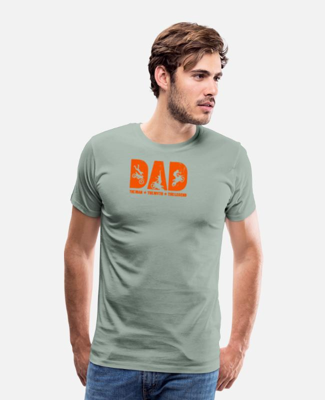 Motorcycle T-Shirts - Dad The Man The Myth The Legend design Gift For - Men's Premium T-Shirt steel green