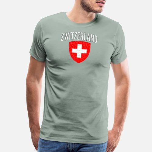 b4f008d4e Switzerland World Soccer Cup Jersey Football 2018 - Men s Premium T-Shirt.  Back. Back. Design. Front