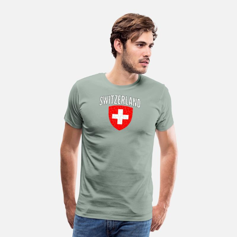 1f6fd47ea Switzerland T-Shirts - Switzerland World Soccer Cup Jersey Football 2018 - Men s  Premium T