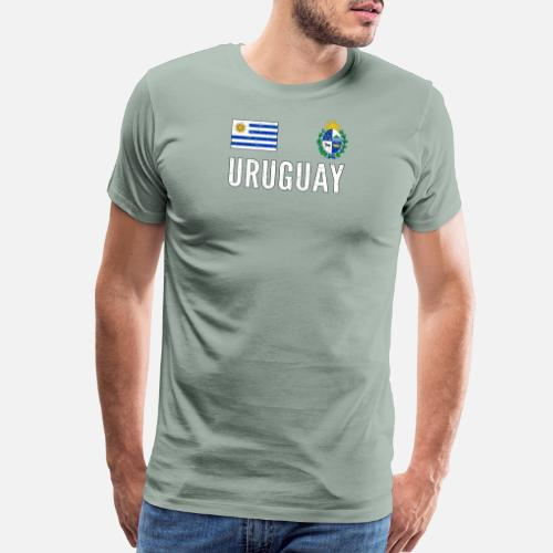 Birthday T-Shirts - Uruguay Soccer Jersey World Football Cup Vintage - Men s  Premium T. Do you want to edit the design  d0c514782