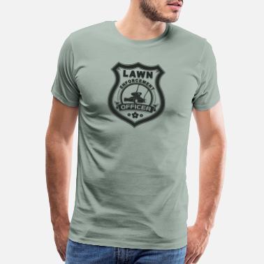 Mens Lawn Enforcement Officer Funny Gardening Joke T-SHIRT Birthday gift present