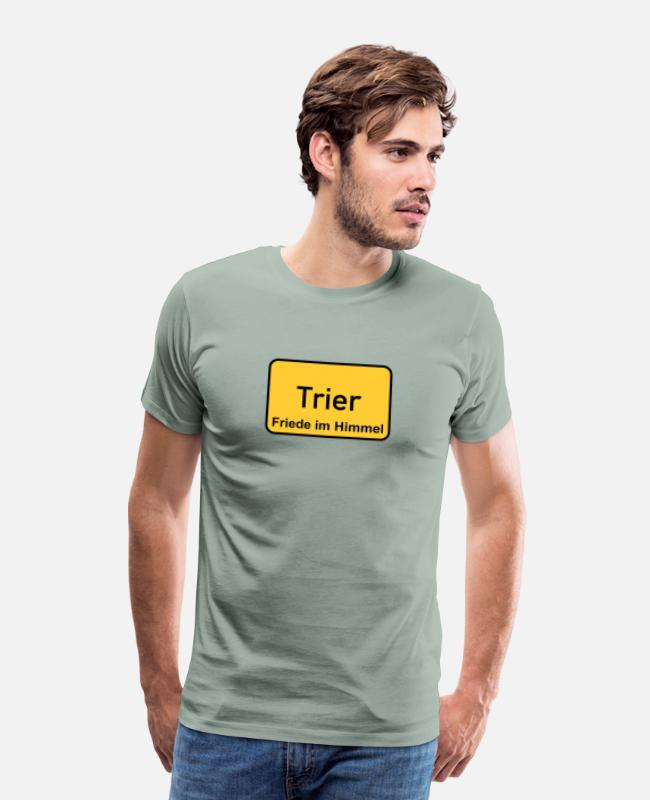 Cologne Cathedral T-Shirts - Trier - Men's Premium T-Shirt steel green