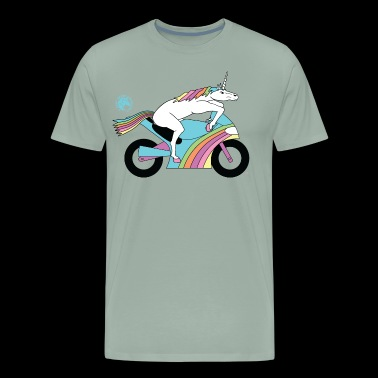Sportbike Unicorn Outline - Men's Premium T-Shirt