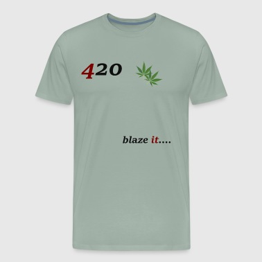 420 blaze it - Men's Premium T-Shirt