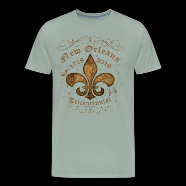 New Orleans Tricentennial Decorative Vintage Gold - Men's Premium T-Shirt