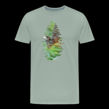 Tree Squirrel Double Exposure - Men's Premium T-Shirt